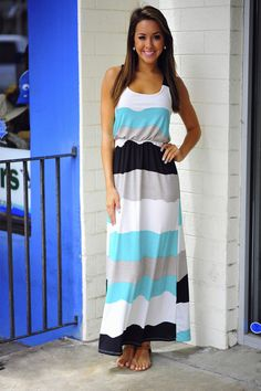 Time Of Our Lives Maxi Dress: Multi Stripes | Hope's