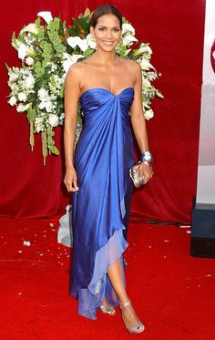 Halle Berry looked magnificent in an Emilio Ungaro dress at the Emmys in 2005.