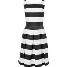 New York Stripe Dress ($290) ❤ liked on Polyvore featuring dresses, white stripe dress, stripe dress, white dress, cream dress and striped dress