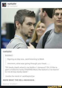 Inside the mind of Jacksepticeye HAHAHA