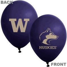 NCAA Washington Huskies Purple 11 Latex Balloons ** You can find out more details at the link of the image. (This is an affiliate link) College Graduation Parties, Graduation Ideas, Little Husky, A Husky, Florida State Seminoles, University Of Washington, Latex Balloons, Fan Gear, Purple