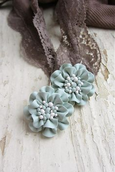 inspiration - why not make these ruffly flowers from polymer clay?