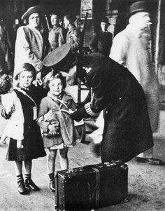 Bristol at War - evacuees. with a doll
