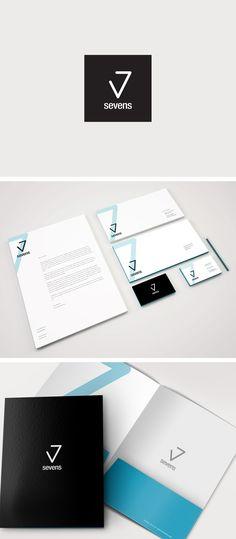 Sevens // Logo Design Sevens: Real Estate. Letterhead Design, Stationery Design, Brochure Design, 7 Logo, Logo Branding, Branding Design, Branding Ideas, Real Estate Logo Design, Real Estate Branding
