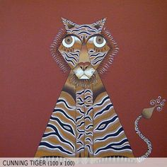 Cunning Tiger (100x100)