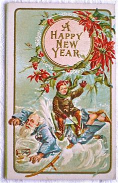 17 Strange And Creepy Vintage New Years Cards