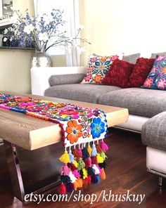Best Home Decoration Stores Code: 3538785367 Mexican Home Decor, Ethnic Home Decor, Indian Home Decor, Bohemian Decor, Bed Runner, Home Living Room, Living Room Decor, Bedroom Decor, Home Decor Furniture