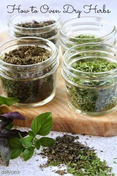 How to Oven Dry Fresh Herbs