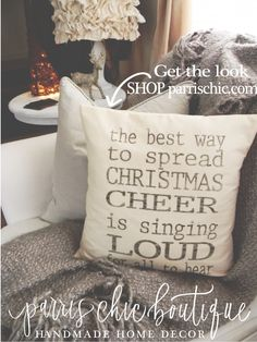 Rustic and cozy this pillow says it all. Sing it loud, sing It proud and bring the spirit of Christmas into your home with this pillow from Parris Chic Boutique!