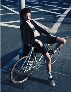 Bicycle_Mid-Motion Editorials - The Vogue Germany Rush Hour Photoshoot Showcases Movement (GALLERY)