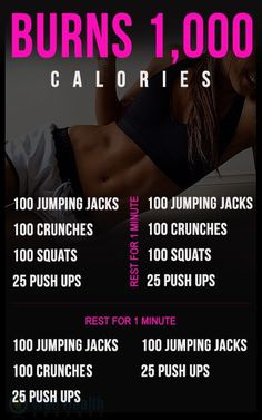 Burn 1,000 calories with this #workout!