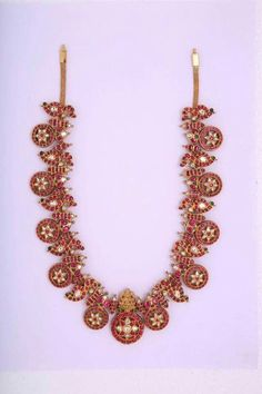 Gold Jewelry Making Refferal: 3808782638 Gold Temple Jewellery, Mens Gold Jewelry, White Gold Jewelry, Gold Jewellery Design, Bridal Jewelry, Designer Jewellery, Antique Jewellery, Ruby Necklace Designs, Sapphire Jewelry
