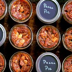 Pecan Pie in a Jar! A flaky crust, crunchy pecans and an ooey gooey golden syrup! You won't stop at one!
