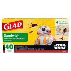 Glad Food Storage Zipper Sandwich 40ct Star Wars, Yellow