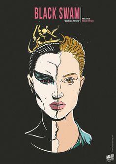 Black Swan - movie poster - Matu Santamaria