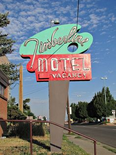 Timberline Motel in the morning by jimsawthat | OldBrochures.com