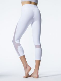 High-waist Coast Capris in White by Alo Yoga from Carbon38
