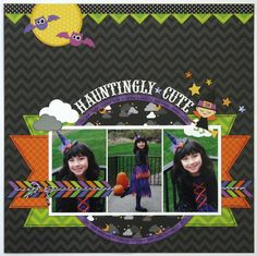 A Doodlebug Halloween Parade Layout by Mendi Yoshikawa - Scrapbook.com Doodlebug's Halloween Parade collection. More details at my blog: http://www.snippets-of-mendi.blogspot.com/2014/01/doodlebug-design-team-projects.html