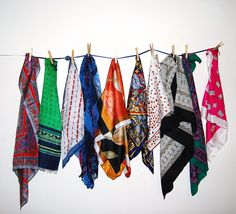 Scarf Rainbow Collection by CheekyVintageCloset on Etsy, $28.50
