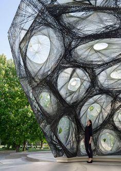 Morfologia de besouros define pavilhão feito de fibra de carbono