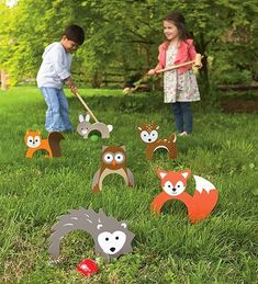 Woodland Croquet Great for family game night and outdoor parties, kids and adults love to play this sweet twist on the backyard classic. family games with kids Outdoor Parties, Outdoor Fun, Outdoor Toys, Outdoor Ideas, Outdoor Crafts, Giant Outdoor Games, Outdoor Playground, Holiday Gift Guide, Holiday Gifts
