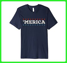 Mens Merica Vintage-Style T-Shirt - 'Merica 4th of July Shirts 2XL Navy - Holiday and seasonal shirts (*Amazon Partner-Link)