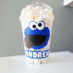 Cookie Monster o Elmo inspirado palomitas / dulces / por TypoRific