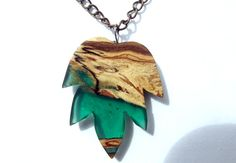 Hey, I found this really awesome Etsy listing at https://www.etsy.com/listing/239210082/wood-and-resin-leaf-necklace-carved-wood
