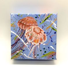 Excited to share the latest addition to my #etsy shop: Miniature Original Painting of Cute Pink Jellyfish