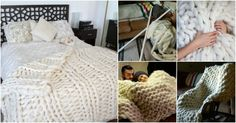 I have never known the PVC pipe can be used as knitting needles , and make a giant blanket simply using PVC pipes .This knitted giant blanket project is Fluffy Blankets, Knitted Blankets, Wool Blanket, Thick Yarn, Chunky Yarn, Chunky Knits, Fairy Lanterns, Cute Diy Projects, Arm Knitting