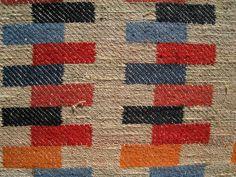 Gunta Stölzl - Bauhaus Master. Close-up of curtain in linen for courtroom in Meilen, Zurich. 1960s.