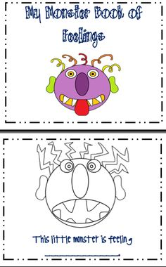 Another connection to Glad Monster; Sad Monster. This might be a little too easy for them, but it is a good, fun coloring project.