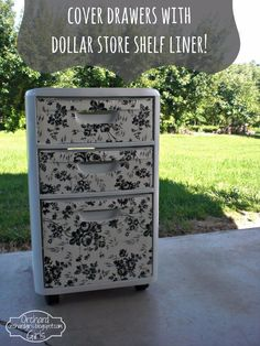 Dollar Store Crafts - Cover Drawers with Dollar Store Shelf Liner - Best Cheap DIY Dollar Store Craft Ideas for Kids, Teen, Adults, Gifts and For Home - Christmas Gift Ideas, Jewelry, Easy Decorations. Crafts to Make and Sell and Organization Projects http://diyjoy.com/dollar-store-crafts