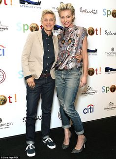 Going strong: Ellen and Portia, seen here in October at a charity gala, are one of Hollywood's top power couples