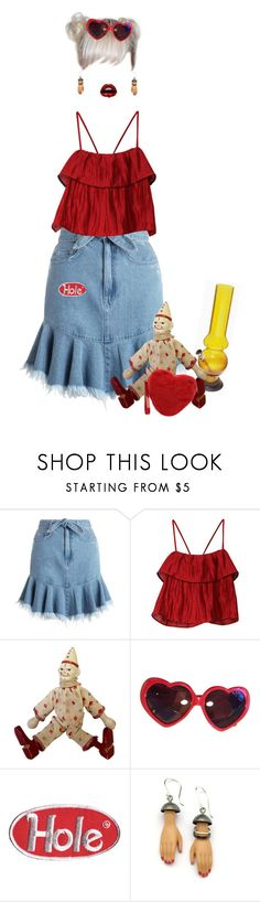 """im gonna puke"" by rushtondolls ❤ liked on Polyvore featuring Zimmermann, Schoenhut, Moschino and Margaux Lange"