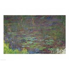 Waterlilies at Sunset detail from the right hand side 1915-26 Canvas Art - Claude Monet (36 x 24)