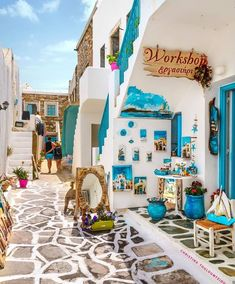 In Paros island, Greece. Places To Travel, Travel Destinations, Places To Go, Greece Destinations, Vacation Trips, Dream Vacations, Wonderful Places, Beautiful Places, Beautiful Beach