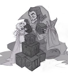 Spooky draws Graf Von Krolock and tiny Herbert