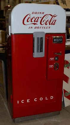 As owners of Fun-Tronics LLC, Rod and Janet Heuerman of Teutopolis, Ill. restored this Coca-Cola vending machine with new parts available from their company. The classic Vendo 49 model circa 1950 was offered at $4,300.