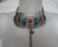 Authentic Ethnic Ottoman necklaceCoralturquoise by galladesign, $35.00