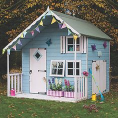 This Crib Playhouse is great for inspiring hours of inventive role play and encouraging active outdoor play. Childrens Playhouse, Backyard Playhouse, Build A Playhouse, Playhouse Ideas, Cubby Houses, Play Houses, Shiplap Cladding, Wendy House, Garden Buildings