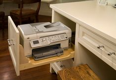 If you have to have the office in the kitchen, at least hide the printer/fax!Roger Turk, Northlight Photography