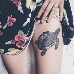 Lotus sea turtle by Severov Roma