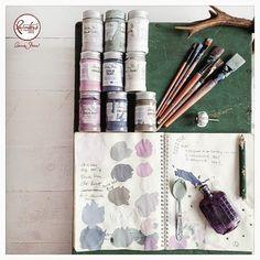 Annie Sloan • Paint & Colour: Agnieszka Krawczyk's Old Violet Side Table
