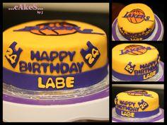 LA Lakers Themed Cake!