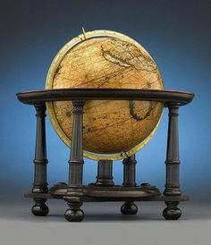 This rare and important terrestrial globe was crafted by Gerard Valk. Dated 1700 ~ M.S. Rau Antiques: