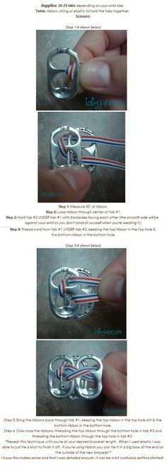 Paper and Twine Crafty Design, LLC: How to Make a Pop Tab Bracelet