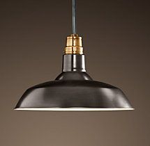 """Vintage Barn Pendant / Bronze / 18"""" D   $251   (to replace recessed lights in boy's desk areas)"""