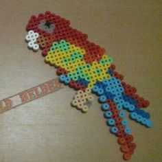 Parrot hama beads by hama_world_heldes: