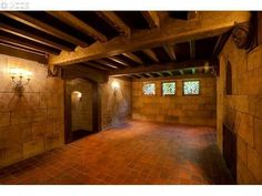 For the D&D fan in your life. This room makes me think of a medieval dungeon but this is a real house in Portland.